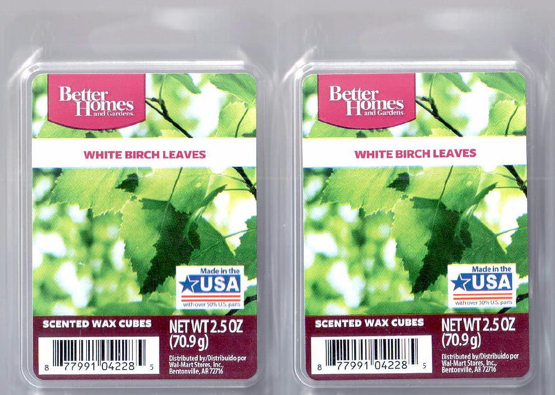 White birch leaves better homes and gardens scented wax - Better homes and gardens scented wax cubes ...