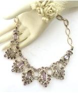 Handmade Pink Amethyst 925 Sterling Silver Neck... - $105.60