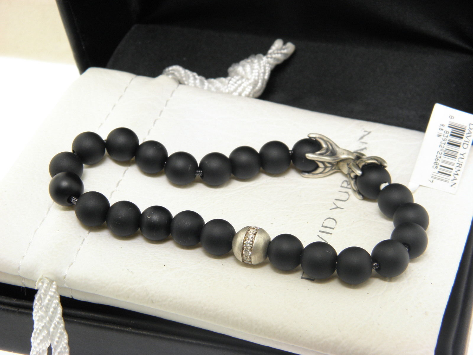 DAVID YURMAN Spiritual Beads Bracelet with Black Onyx and  Diamonds,8.5