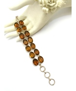 Handmade Honey Quartz 925 Sterling Silver Bracelet - $70.40