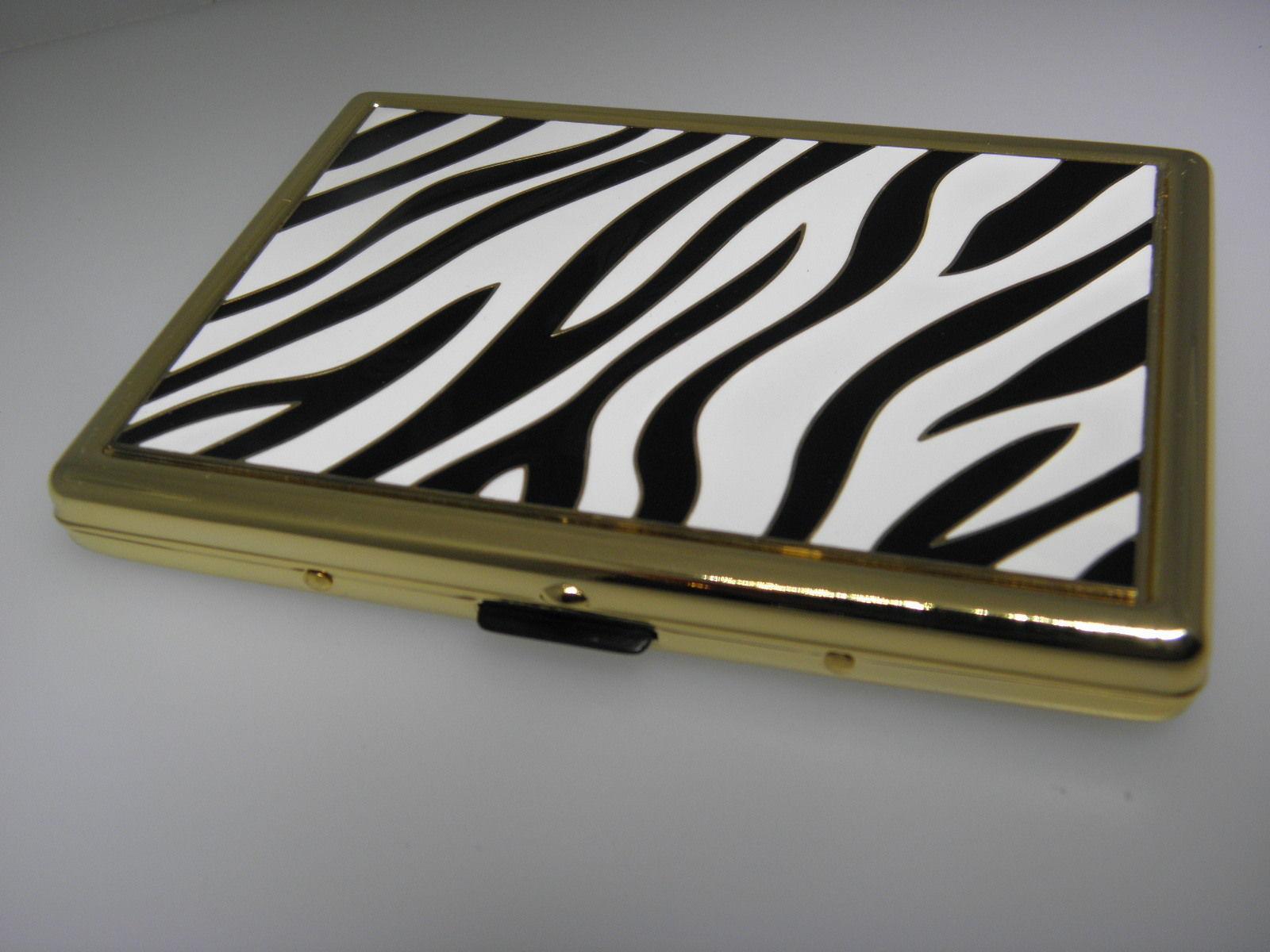 Target business card holder 1 listing glam zebra business card holder cigarette holder 1880 colourmoves