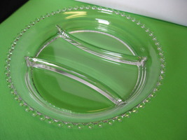 "Elegant Imperial Glass Candlewick Clear 3 Part 10"" Divided Relish Dish USA - $49.99"