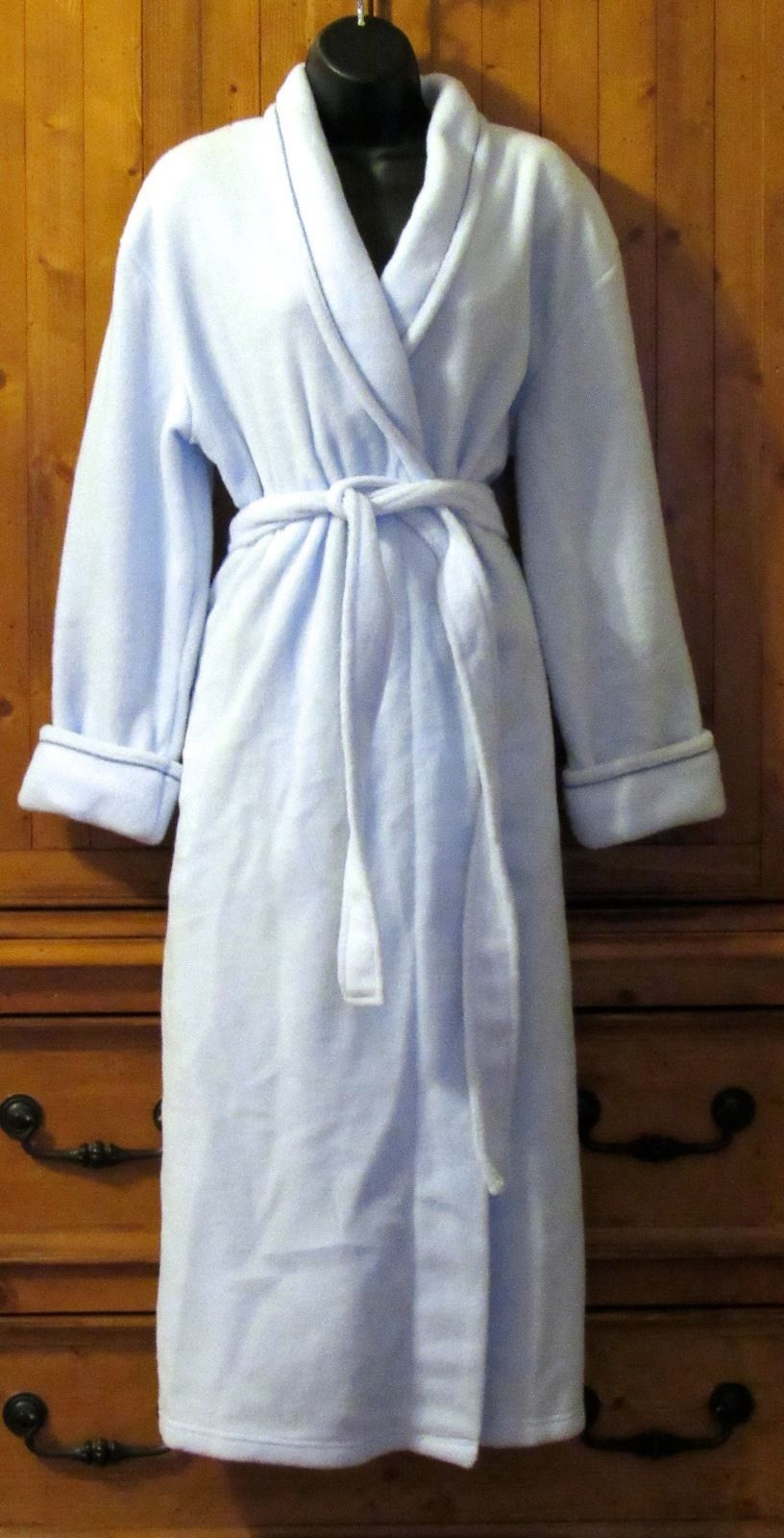Classic Elements Solid Powdered Blue Ultra Soft Warm Robe Polyester S: M (10-12)