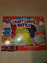 NEW Made By Me Colorful Craft Loops Loom Refill - $14.30