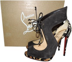 Christian Louboutin  Ferme Brown Self-Tie Suede Red Sole Pump Pointy Toe... - $459.91