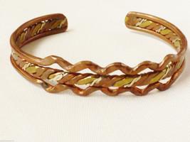 Fashion Brass Silver Copper weaved metal gold tone intricate cuff  bracelet - $24.75
