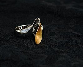 Elegant Wave Shape Women Ring Gold Plated Handmade Classic Gift Deal - $62.24