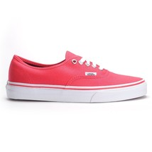 Vans Unisex Authentic Teaberry White Skate Shoes-Red Happy Hawaii Mens 8.5 - $59.95