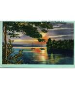 Vtg Linen Postcard Rhode Island Greetings From Spring Lake RI Glendale S... - $24.95