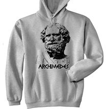 ARCHIMEDES - NEW COTTON GREY HOODIE - ALL SIZES IN STOCK - $41.98