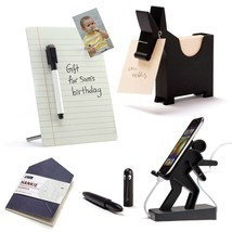 Office Set Lot 5 Design BOSS Desk Gifts Memo Stand Mobile Dispaly Pen De... - $98.00