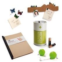 Eco Set  Lot 5 Design Gifts Pushpin Battery Box Clip Paper Snail Tape Me... - $98.00