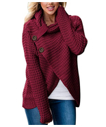 Women's Turtleneck Sweaters Chunky Cable Knit Pullover Sweater Coats wit... - ₹2,057.88 INR+