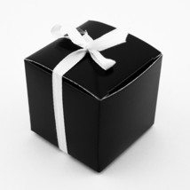 "48pk Black 2"" x 2"" Wedding Gift Box Favor Candy Bridal Shower Favour Pre... - $8.59"
