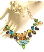 Multi-Gemstone 925 Sterling Silver Necklace - $80.00