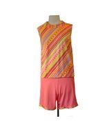 Vintage 1960s  Lorraine Lingerie Stripe Pajama Set PJs Lounger - $28.00