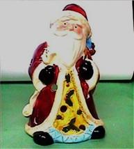 Candle Holder Santa Votive Ceramic - $8.04