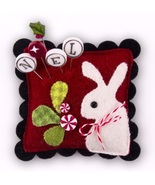 "Peppermint Hare Sliders Pincushion Kit 4"" cross... - $19.50"