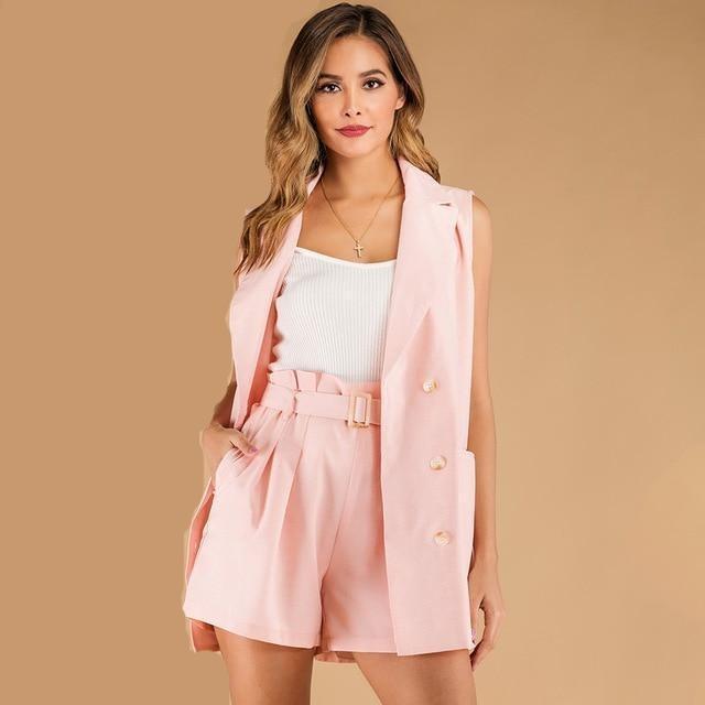 D sleeveless blazer coat and shorts office lady.jpg 640x640 327546bd 660f 4363 b522 df51f256fe5c