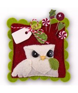 "Peppermint Owl Sliders Pincushion Kit 4"" cross ... - $19.50"