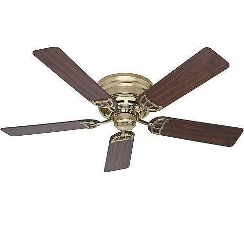 5 Blade Ceiling Fan 52 Low Profile Modern Fans Three Sd Walnut Oak Br 113 83