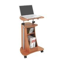 Laptop Desk Wheeled Stand Computer Workstation Portable Cart Adjustable ... - $89.08