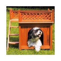 Small Wooden Dog House Indoor Outdoor Wood Cat Cottage Pet Fence Cedar L... - $113.84