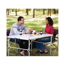 Folding Table Portable Aluminum  W Handle Camping BBQ RV Coleman Picnic ... - $94.04