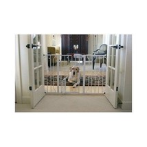 Extra Wide Metal Walk Through Pet Gate Safety Baby Gates Door House Dog ... - $63.84