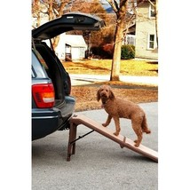 Carpeted Folding Pet Ramp Free Standing Portable Dog Ramps Car Bed Cat P... - $123.74