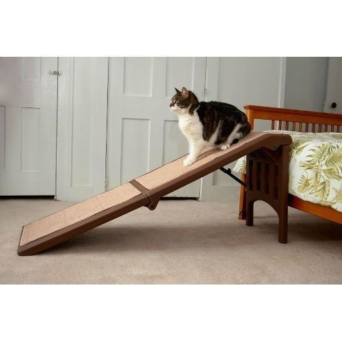 Carpeted Folding Pet Ramp Free Standing Portable Dog Ramps Car Bed Cat Pets Gear