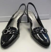 ETIENNE AIGNER EUC Black Patent Leather Slingba... - $31.64