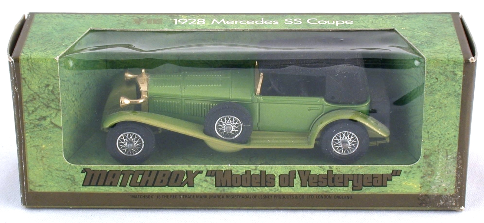 Matchbox Yesteryear Y-16 1928 Mercedes SS Coupe Lesney Diecast 45:1