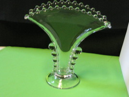 "Elegant Imperial Glass Candlewick 8"" Fan Vase Made in USA - $52.99"