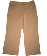 NY & Company dressy cropped pants sz 10 tan pinstripe NEW - $16.00