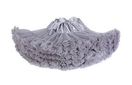 Beautifulfashionlife Womens Tulle pettiskirt Tutu Skirts Grey,X-Large - $28.70