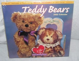 Teddy Bears 2002 Collector 16 Month Wall Calendar NEW! - $4.96