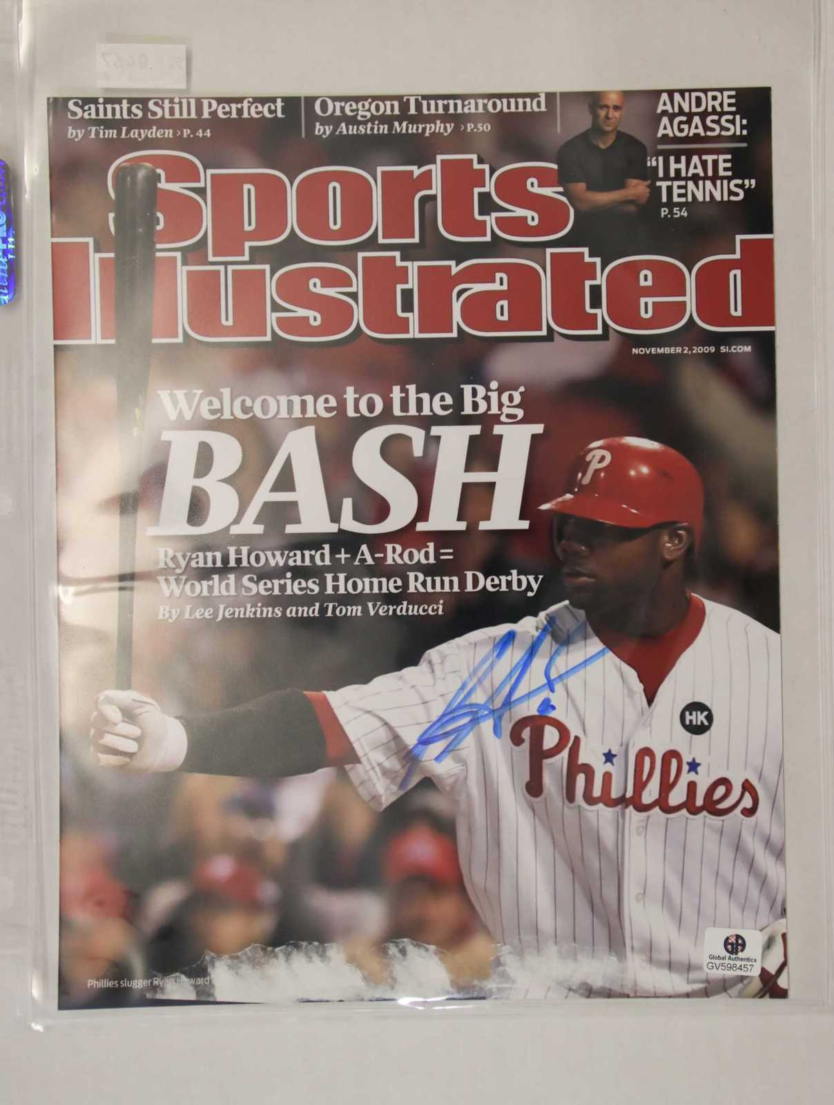 Primary image for Ryan Howard Signed Autographed Glossy 8x10 Photo (GAI) - Philadelphia Phillies