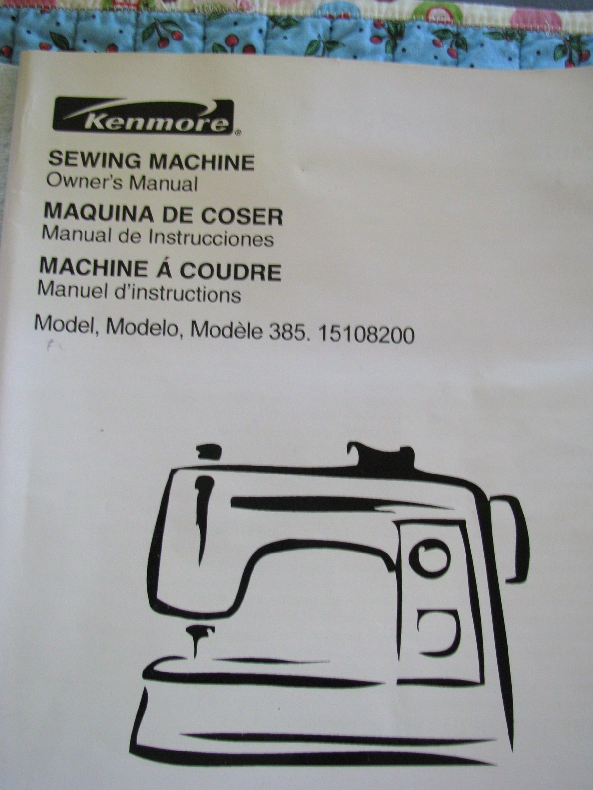 Sears Kenmore Sewing Machine Manual 385 1510 English Spanish 66 Pages -  $11.95
