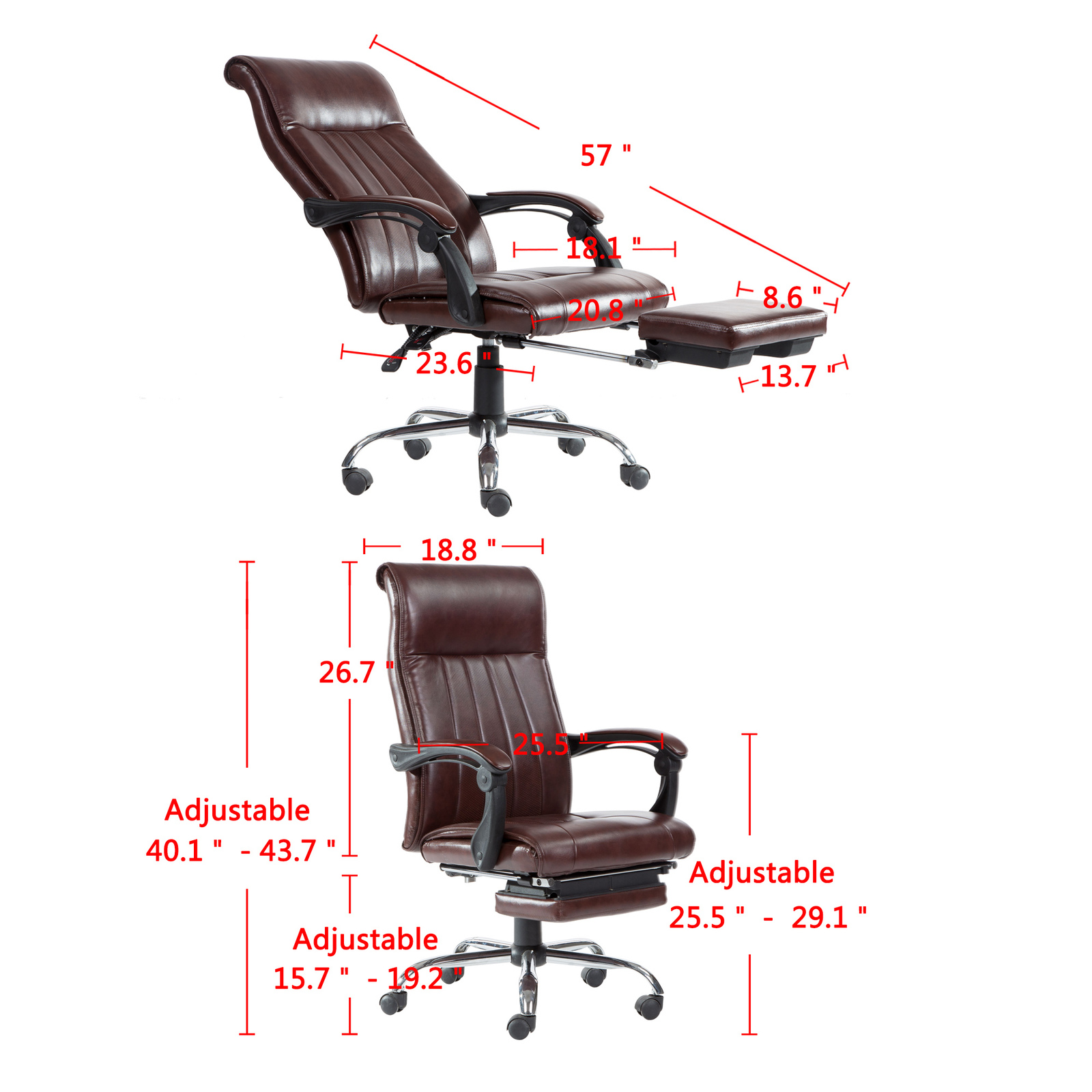 Reclining Chair High Back Executive Swivel Racing Style Office Gaming Chair