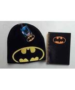 Batman Beanie Hat & Journal School Boys Black & Yellow Batman Signal Des... - $24.14