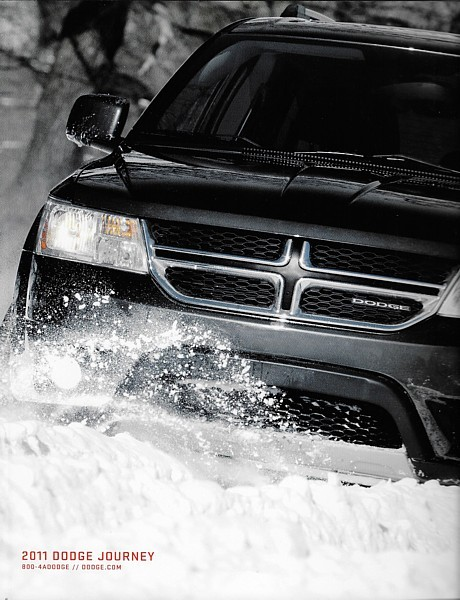 Primary image for 2011 Dodge JOURNEY brochure catalog 2nd Edition US 11 Express Crew R/T Lux