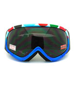 Ski Snowboard Goggles Blue Colorful Polka Dot Anti Fog Foam Padding - $17.95
