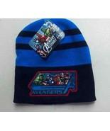 Marvel Avenger's Beanie Hat Black / Blue Acrylic One Size Men Boys w/ De... - $11.60