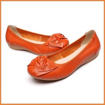 Casual Genuine Leather Ballerina Style Slip On Flat Sole Shoes In Six Colors image 3