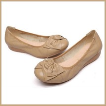 Casual Genuine Leather Ballerina Style Slip On Flat Sole Shoes In Six Colors image 4