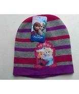 Frozen Beanie Hat Anna Elsa Pink / Purple / Grey Kids Girls Disney One Size - $10.22