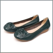 Casual Genuine Leather Ballerina Style Slip On Flat Sole Shoes In Six Colors image 5