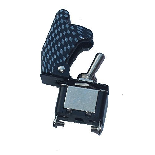 Primary image for E Support 12V 20A Carbon Fiber Cover Rocker Toggle Switch SPST ON/OFF Car Tru...