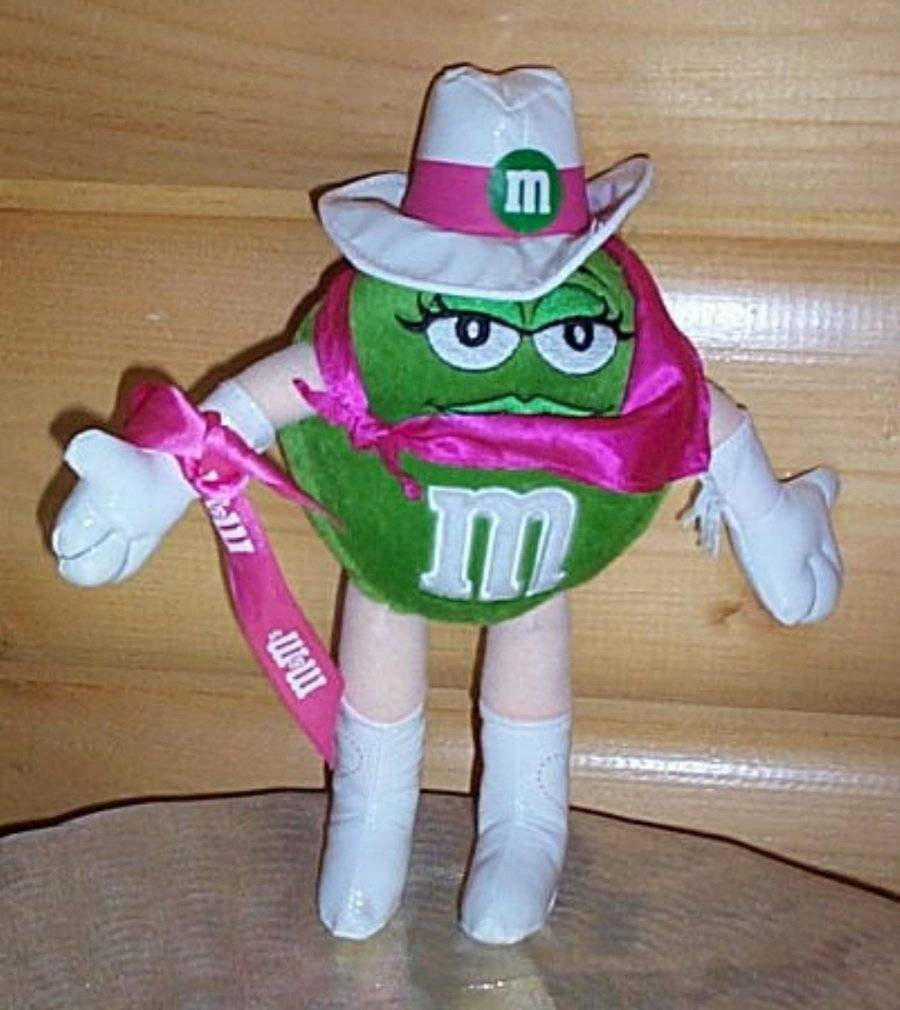 "Primary image for M & M's Green Plush Candy Super CowgirlPoseable 9"" Shop Now Special"